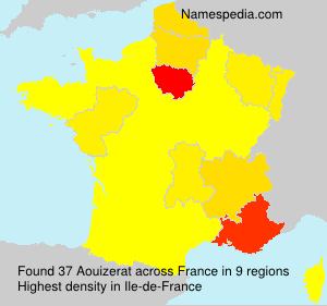 Surname Aouizerat in France