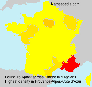 Surname Apack in France