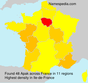 Surname Apak in France
