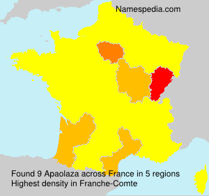 Surname Apaolaza in France