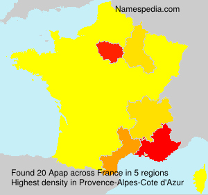 Surname Apap in France