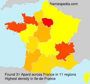 Surname Apard in France