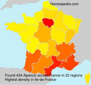 Familiennamen Aparicio - France
