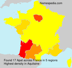 Surname Apat in France
