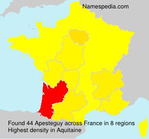 Familiennamen Apesteguy - France