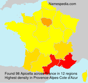 Surname Apicella in France
