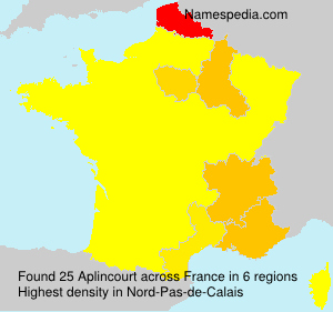 Surname Aplincourt in France
