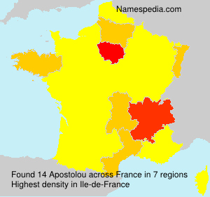 Surname Apostolou in France