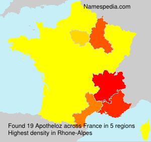 Surname Apotheloz in France