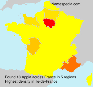 Surname Appia in France