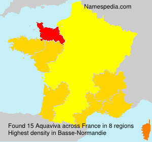 Surname Aquaviva in France