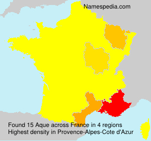 Surname Aque in France