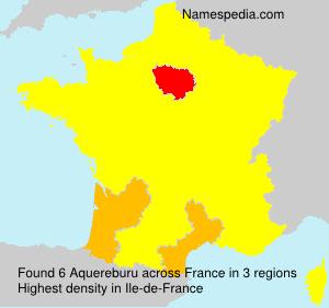 Familiennamen Aquereburu - France