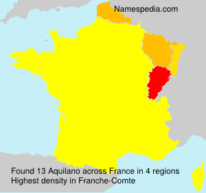 Surname Aquilano in France