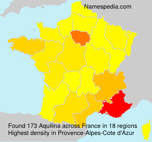 Surname Aquilina in France