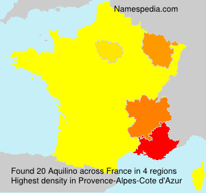 Surname Aquilino in France