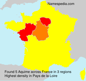 Surname Aquime in France