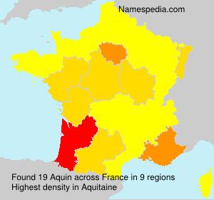 Familiennamen Aquin - France