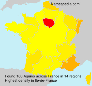 Surname Aquino in France