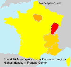 Surname Aquistapace in France