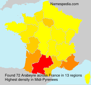 Surname Arabeyre in France