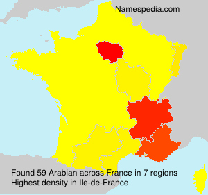 Surname Arabian in France
