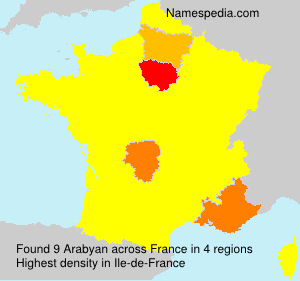 Surname Arabyan in France