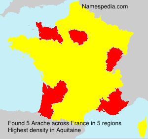 Surname Arache in France
