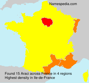 Surname Araci in France