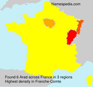 Surname Arad in France