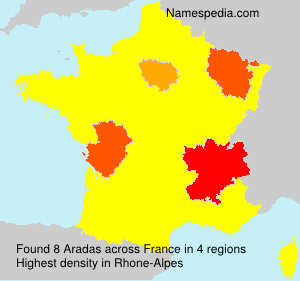 Surname Aradas in France