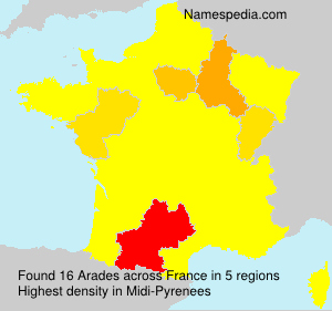 Surname Arades in France