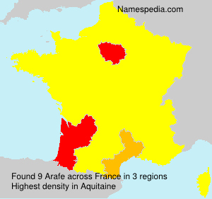 Surname Arafe in France