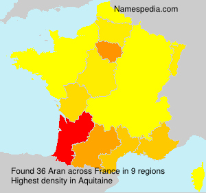 Surname Aran in France