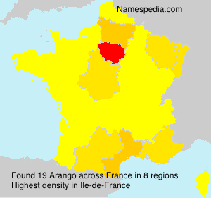 Surname Arango in France