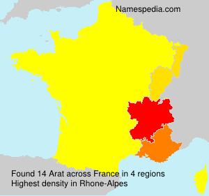 Surname Arat in France