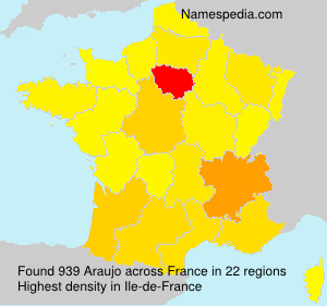 Familiennamen Araujo - France