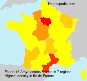 Surname Araya in France