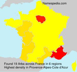 Surname Arba in France