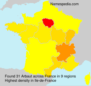 Surname Arbaut in France