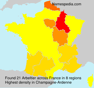Surname Arbeltier in France