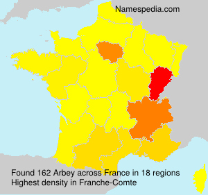 Surname Arbey in France