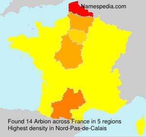 Familiennamen Arbion - France