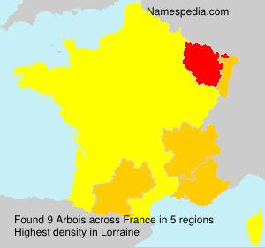 Familiennamen Arbois - France