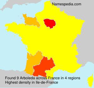 Surname Arboleda in France