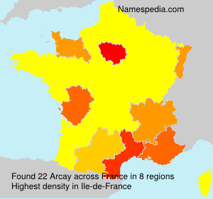 Surname Arcay in France