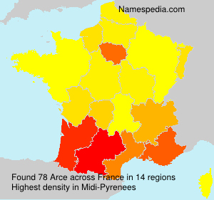 Surname Arce in France