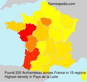 Familiennamen Archambeau - France