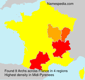 Surname Archs in France