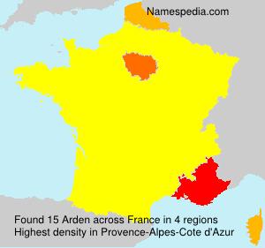 Surname Arden in France